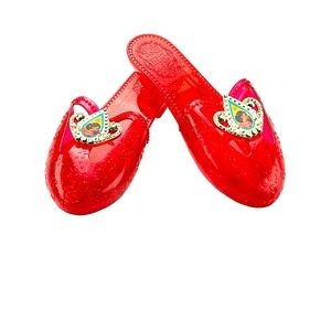 Elena Of Avalor Girls Shoes Age 3+ Red Glitter 👑